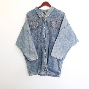 Vintage Acid Wash Denim Jacket